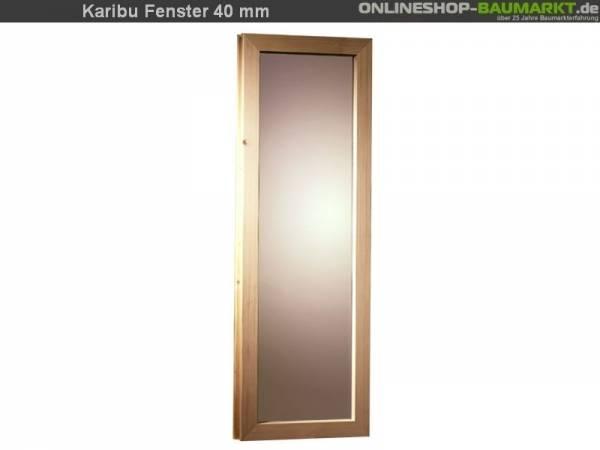 Karibu Fenster für 40 mm Sauna bronziert Iso-Glas