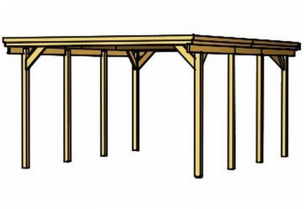 Skan Holz Carport Holstein 373 x 554 cm
