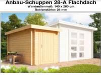 Wolff Finnhaus Anbauschuppen 28-A Flachdach naturbelassen