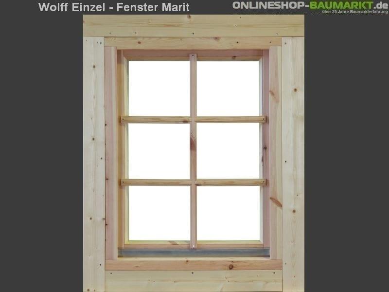 Wolff Finnhaus Einzelfenster Marit 44 Isoliert