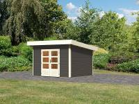 Karibu Woodfeeling Gartenhaus Northeim 2 terragrau 38 mm