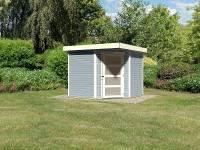 Karibu Woodfeeling Gartenhaus Schwandorf 5 seidengrau 19 mm