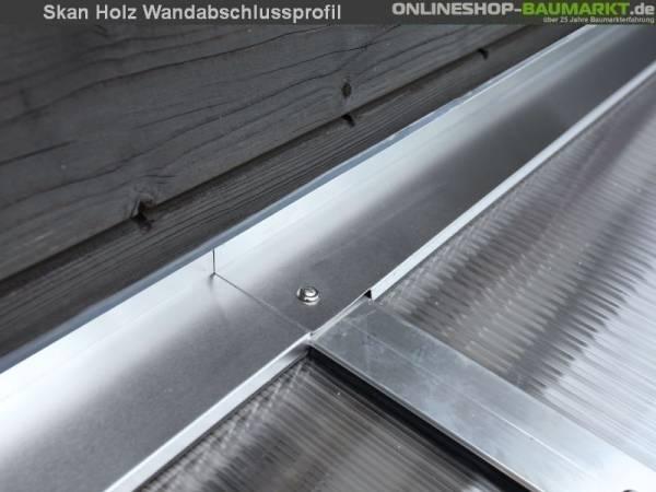 Skan Holz Wandabschlussprofil für Terrassenüberdachungen mit 434 cm Breite
