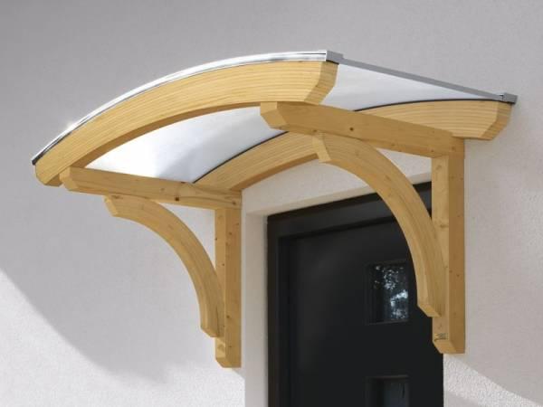 Skan Holz Vordach Rostock 1 unbehandelt, 174 x 80 cm für Einzeltür