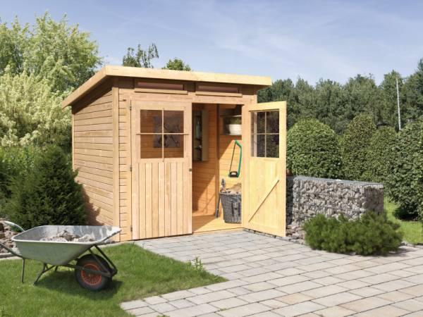 Karibu Gartenhaus Glücksburg 3 natur 19 mm