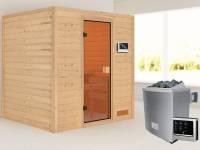 Karibu Sauna Adelina 4,5 kW Ofen ext. Strg