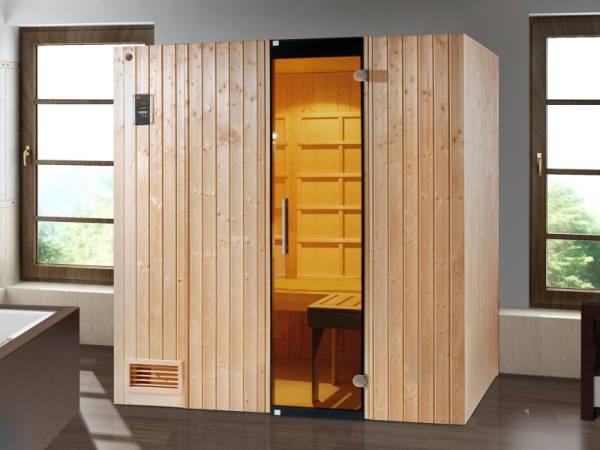 Weka Infrarot-Sauna-Kombikabine Uppsala mit Flächenstrahlern und Sauna-Bioofen 3,6 kW