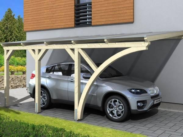 Skan Holz Anlehncarport Eifel naturbelassen