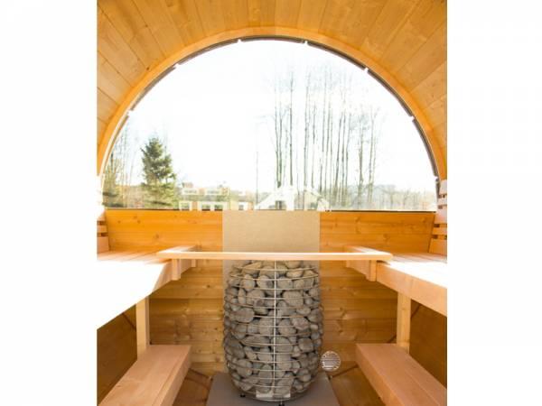 Wolff Finnhaus Halbrundglas für Saunafass 235 cm