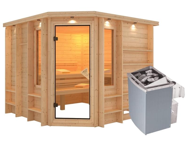 karibu massivholzsauna marona 40 mm premium bankblende. Black Bedroom Furniture Sets. Home Design Ideas