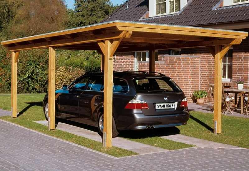 skan holz carport emsland 354 x 604 cm einzel einzelcarport 243006 51 alu aluminium. Black Bedroom Furniture Sets. Home Design Ideas