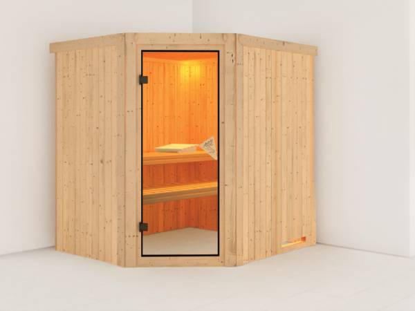Siirin - Karibu Sauna ohne Ofen - ohne Dachkranz -