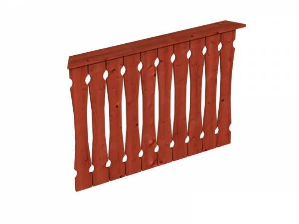 Skan Holz Brüstung für Pavillons 120 cm Balkonschalung in mahagoni