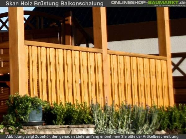 Skan Holz Seitenwand für Terrassenüberdachung bis 250 cm Balkonschalung