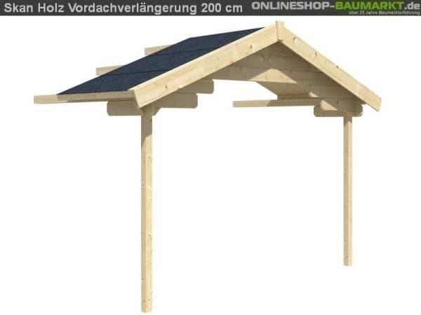 Skan Holz Vordachverlängerung 200 cm für Langesund