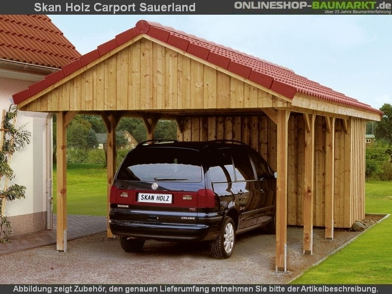 Skan Holz Carport Sauerland 380 x 750 cm