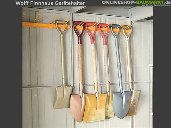 Wolff Finnhaus Gerätehalter Wand 20 für Metall-Gerätehaus