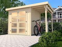Weka Gartenhaus 321 Größe 2 mit Anbaudach 115 cm