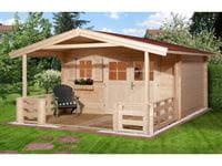 Weka Gartenhaus 135 Gr. 1 mit Vordach und Terrasse