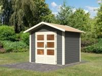Karibu Woodfeeling Gartenhaus Talkau 3 in terragrau 28 mm