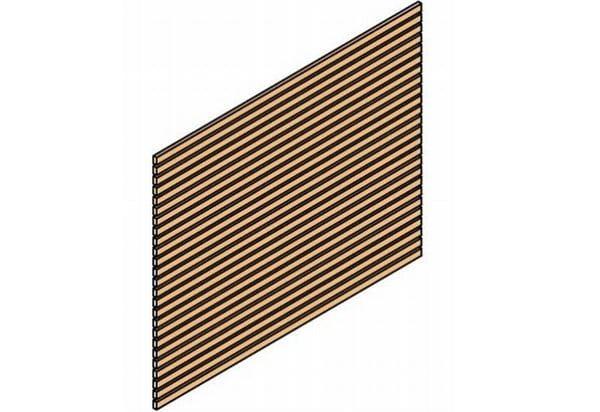 Skan Holz Seitenwand für Carport 230 x 160 cm Rhombusprofil