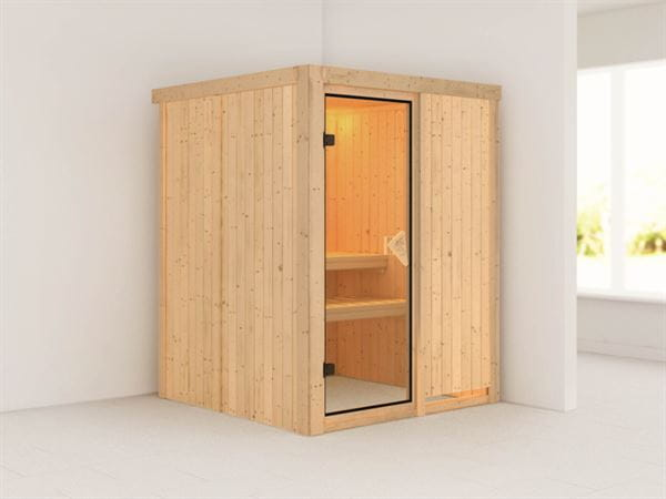 Norin - Karibu Sauna ohne Ofen - ohne Dachkranz -