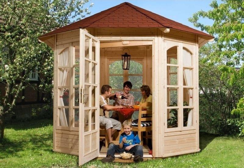 weka pavillon 234 b sch ner hochwertiger geschlo ener pavillon von weka mit einfach zu. Black Bedroom Furniture Sets. Home Design Ideas