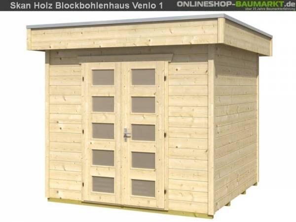 Skan Holz Blockbohlenhaus Venlo Größe 1, 250 x 250 cm