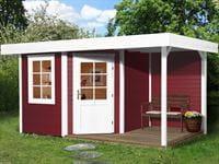 Weka Gartenhaus 5-Eck-Haus 213 Gr 1 schwedenrot Anbau 150 cm
