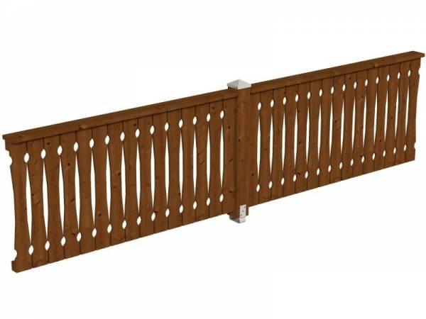 Skan Holz Brüstung für Pavillons 400 cm Balkonschalung in nussbaum