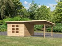 Karibu Woodfeeling Gartenhaus Northeim 3 naturbelassen mit Schleppdach 3,0 Meter