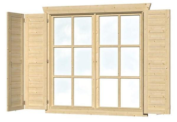 Skan Holz Fensterläden Doppelfenster hoch beidseitig