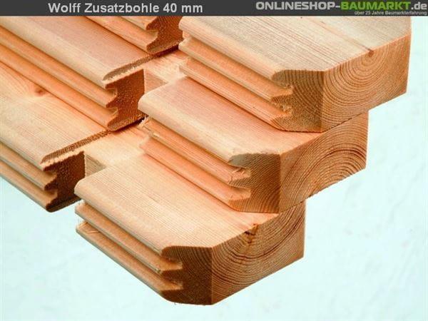 Wolff Finnhaus Zusatzbohle 40 mm je lfm.