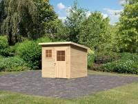 Karibu Woodfeeling Gartenhaus Oranienburg 3 natur 19 mm