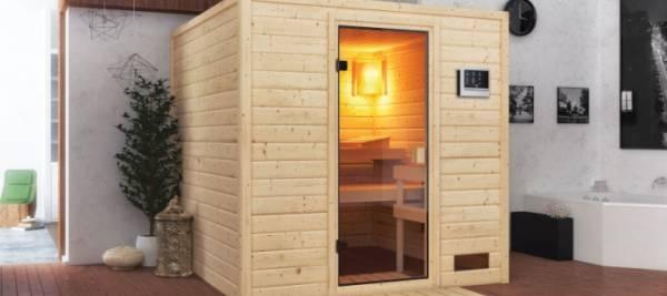 Sauna niedrige Deckenhöhe