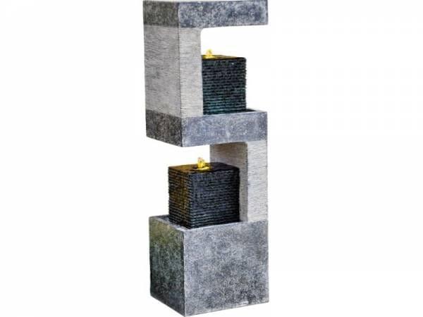 Granimex Lizu 4-Eck-Säule, inkl. LED-Beleuchtung und Pumpe
