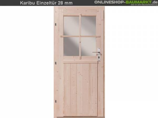 Karibu Einflügeltür für 28 mm natur