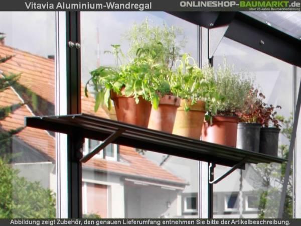 Vitavia Aluminium-Wandregal 122x15 cm schwarz