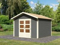 Karibu Woodfeeling Gartenhaus Talkau 8 in terragrau 28 mm