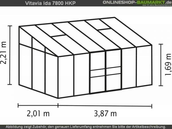 Vitavia Gewächshaus Ida 7800 HKP 6 mm dunkelgrün