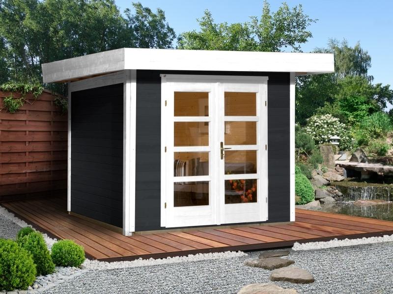 Weka Gartenhaus 126 Plus Gr. 3 in anthrazit
