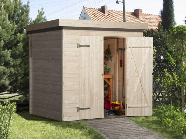 Weka Gartenhaus 344 natur - 14 mm