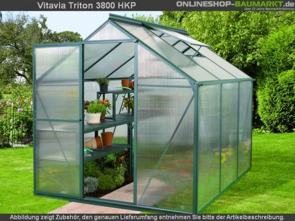 Vitavia Gewächshaus Triton 3800 HKP 4 mm dunkelgrün