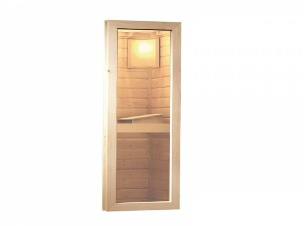 Karibu Fenster natur für 40 mm Sauna Klarglas Iso-Glas