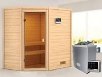 Karibu Woodfeeling Sauna Jella mit 4,5 kW Ofen ext. Strg