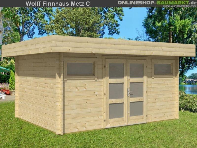 wolff finnhaus gartenhhaus metz a inkl dichtungsbahn osb. Black Bedroom Furniture Sets. Home Design Ideas