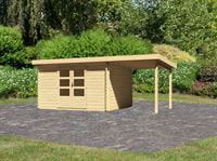 Karibu Woodfeeling Gartenhaus Bastrup 7 mit Schleppdach 2 Meter