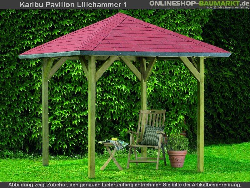 karibu 4 eck pavillon eco lillehammer 1 kompakter 4 eck pavillon eco mit einfach zu. Black Bedroom Furniture Sets. Home Design Ideas