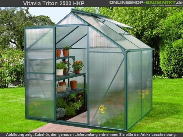 Vitavia Gewächshaus Triton 2500 HKP 4 mm dunkelgrün