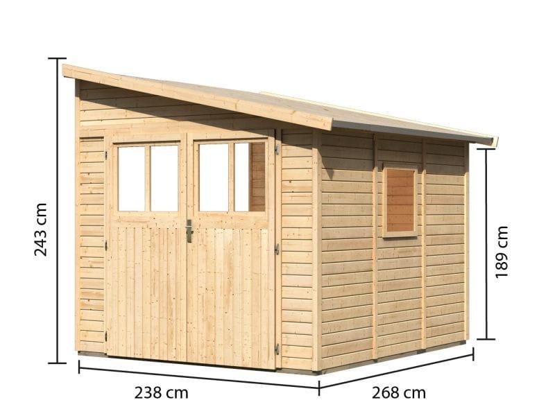 karibu gartenhaus bomlitz 3 naturbelassen g nstig bei osb. Black Bedroom Furniture Sets. Home Design Ideas